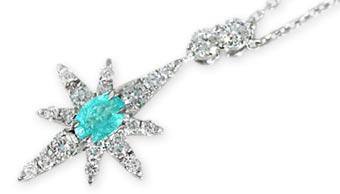 3c3567244b370 スタージュエリー(STAR JEWELRY) クロッシングスター パライバトルマリン ダイヤモンド ペンダント・ネックレス  PARAIBA