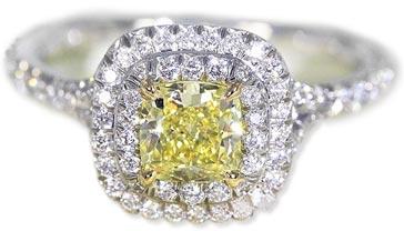 c45a482f205d ティファニー(TIFFANY&Co.) ソレスト・イエロー ダイヤモンドリング(指輪)[Pt950/