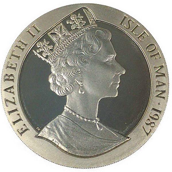 1ozoz 1987年 アメリカスカップ コイン エリザベス二世白銅貨 Pd999(純パラジウム・パラジウム999)