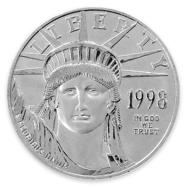 1oz イーグルプラチナ貨 100ドル Pt999(純プラチナ・プラチナ999)