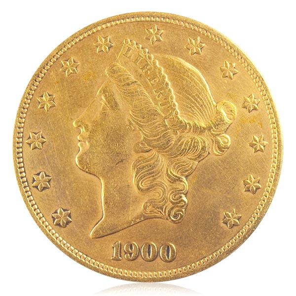 女神・頭像(顔)金貨 20ドル K21.6(21.6金)