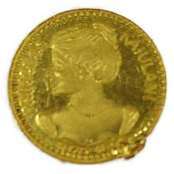 ハワイ プリンセス・カイウラニ(Hawaii , Kaiulani Princess)金メダル K24(純金・24金)