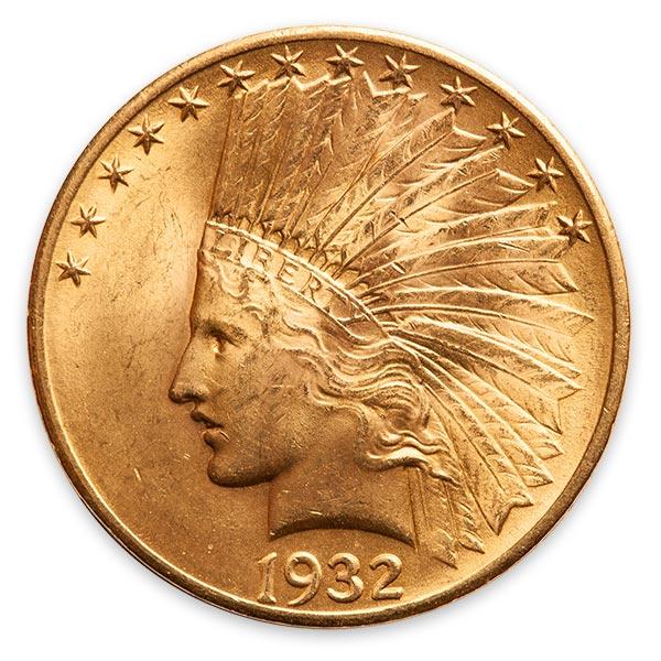 インディアン金貨 10ドル K21.6(21.6金)