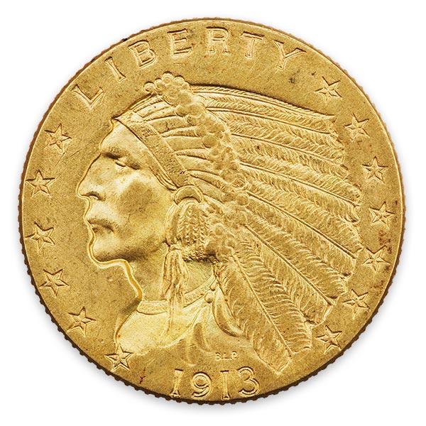インディアン金貨 2.5ドル K21.6(21.6金)