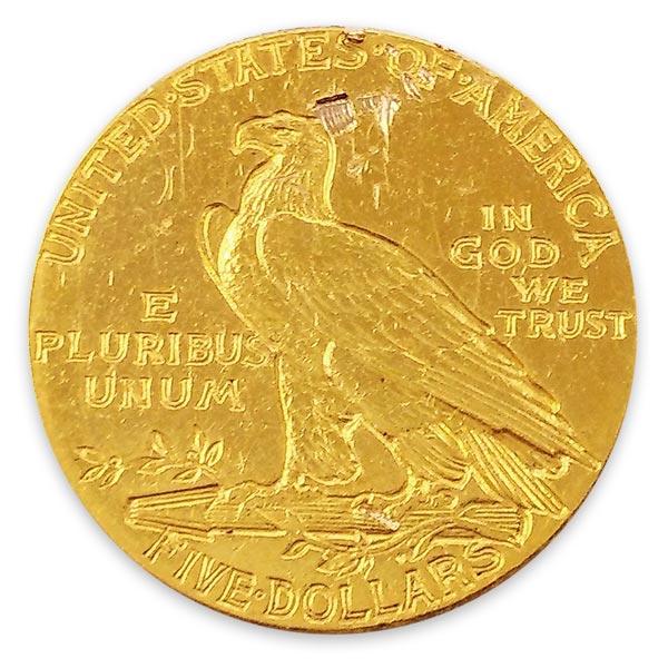 インディアン金貨 5ドル K21.6(21.6金)