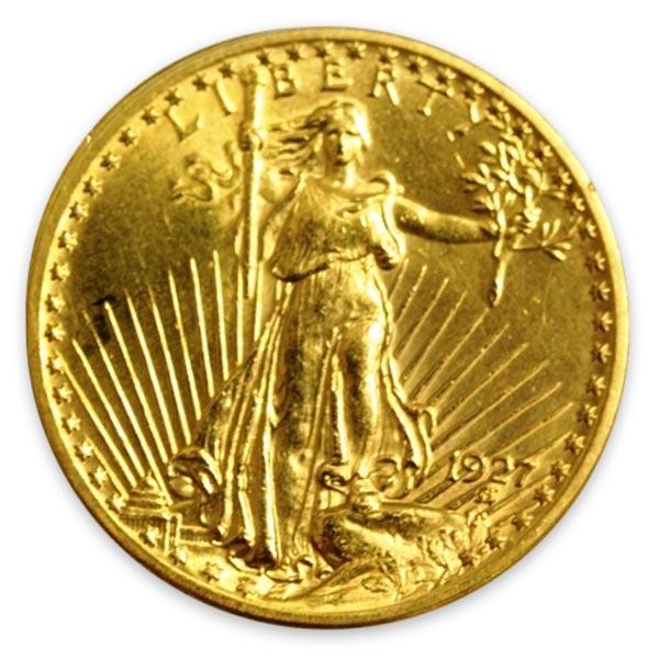 女神・立像(セントゴーデンズ)金貨 20ドル K21.6(21.6金)