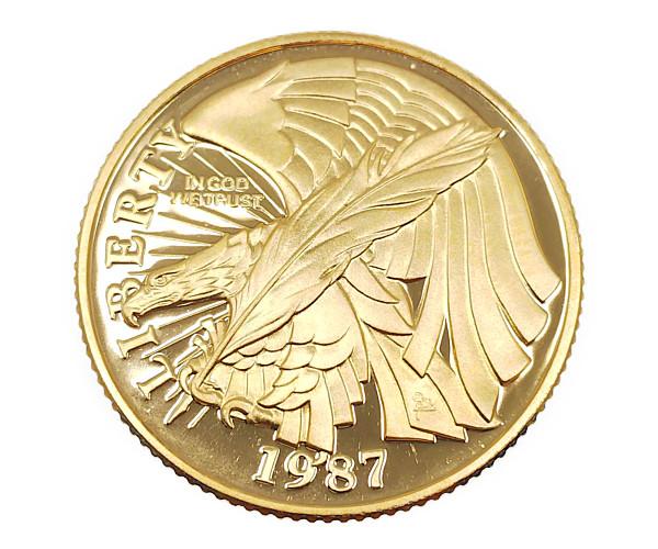 アメリカ憲法起草200年記念金貨 5ドル K21.6(21.6金)