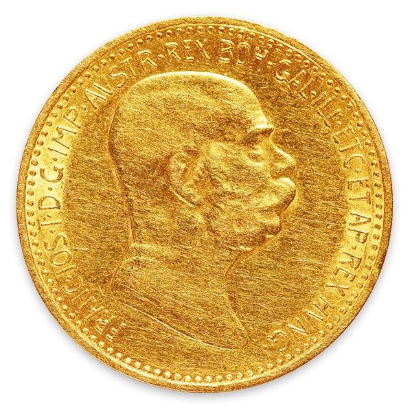 フランツ・ヨーゼフ(フランツ・ヨセフ)金貨 10コロナ K21.6(21.6金)
