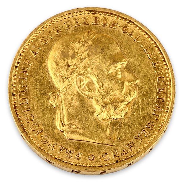 フランツ・ヨーゼフ(フランツ・ヨセフ)金貨 20コロナ K21.6(21.6金)