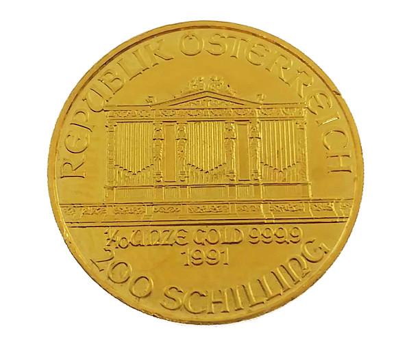 1/10oz ウィーン・ハーモニー金貨 10ユーロ(200シリング) K24(純金・24金)