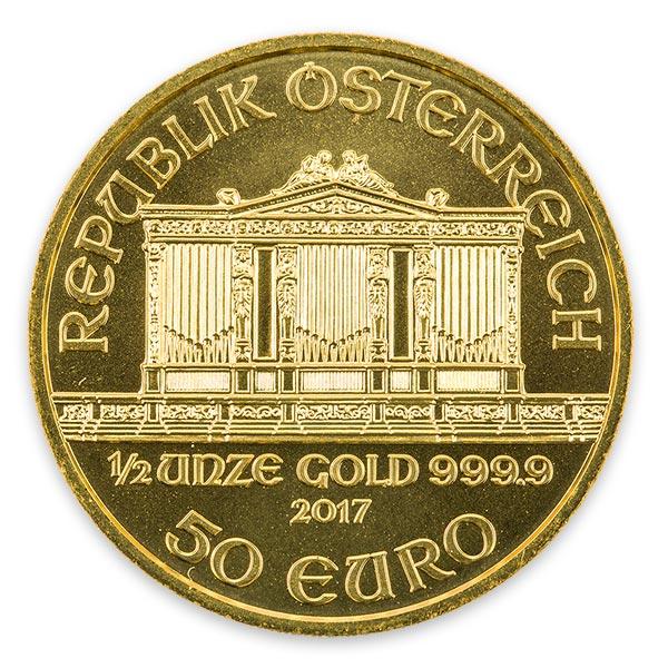 1/2oz ウィーン・ハーモニー金貨 50ユーロ(1000シリング) K24(純金・24金)