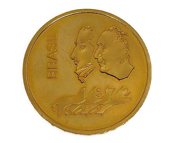 ブラジル独立 150年記念 Independence 150th Anniversary Gold Coin 300 Cruzeiro金貨 300クルゼイロ K22(22金)