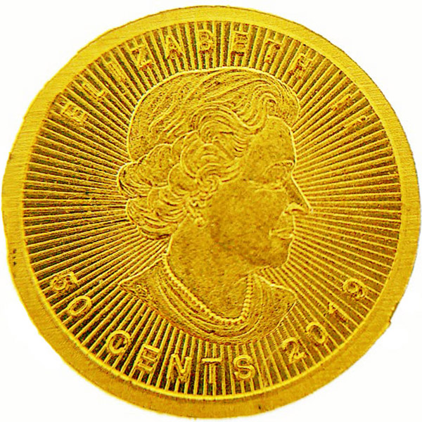 純金貨幣 エリザベス2世 2019年 カナダ造幣局(ロイヤル・カナディアン・ミント)/Royal Canadian Mint金貨 50セント K24(純金・24金)