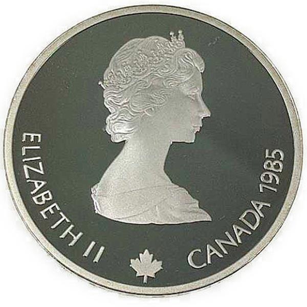 カルガリー 1988年 冬季オリンピック記念 スターリングシルバー 銀貨幣(ダウンヒル滑降)銀貨 20カナダドル Sv925(シルバー925)
