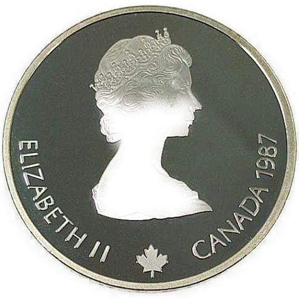 カルガリー 1988年 冬季オリンピック記念 スターリングシルバー 銀貨幣(バイアスロン)銀貨 20カナダドル Sv925(シルバー925)