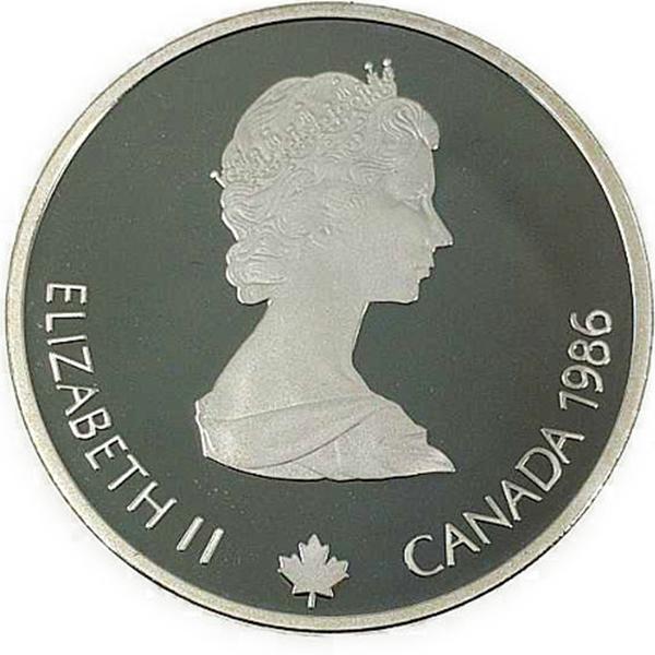 カルガリー 1988年 冬季オリンピック記念 スターリングシルバー 銀貨幣(クロスカントリー)銀貨 20カナダドル Sv925(シルバー925)