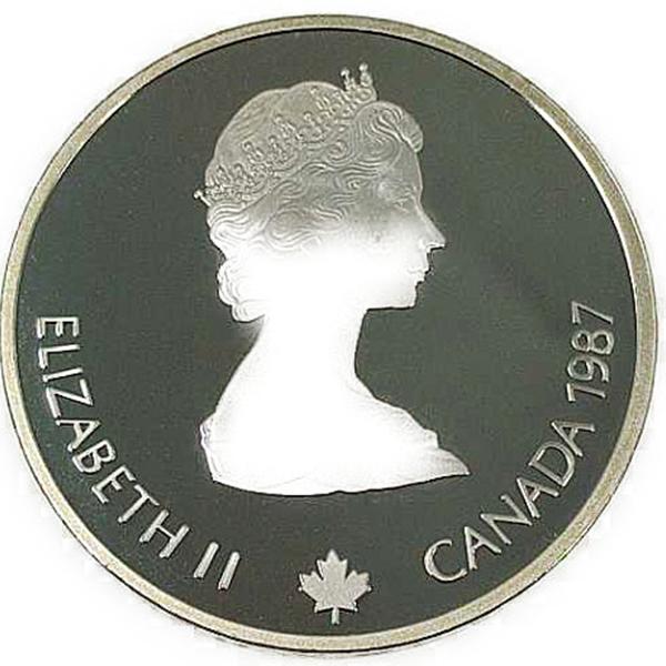 カルガリー 1988年 冬季オリンピック記念 スターリングシルバー 銀貨幣(カーリング)銀貨 20カナダドル Sv925(シルバー925)
