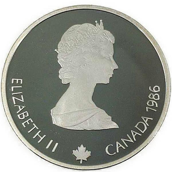 カルガリー 1988年 冬季オリンピック記念 スターリングシルバー 銀貨幣(フリースタイルスキー)銀貨 20カナダドル Sv925(シルバー925)