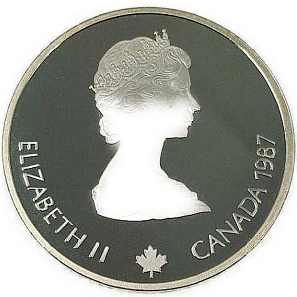 カルガリー 1988年 冬季オリンピック記念 スターリングシルバー 銀貨幣(ジャンプ)銀貨 20カナダドル Sv925(シルバー925)