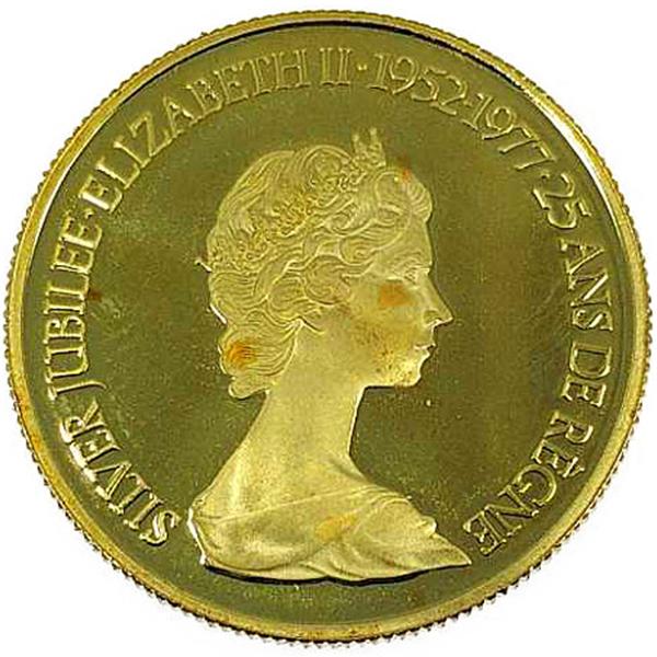 カナダ造幣局 エリザベスⅡ世 フラワーブーケ 1952-1977年 100 Dollars - SILVER JUBILEE·ELIZABETH II·1952-1977·25 ANS DE RÈGNE金貨 100カナダドル K22(22金)