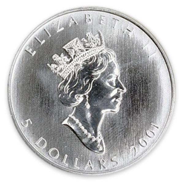 1/10oz Ptメイプルリーフプラチナ貨 5ドル Pt999(純プラチナ・プラチナ999)