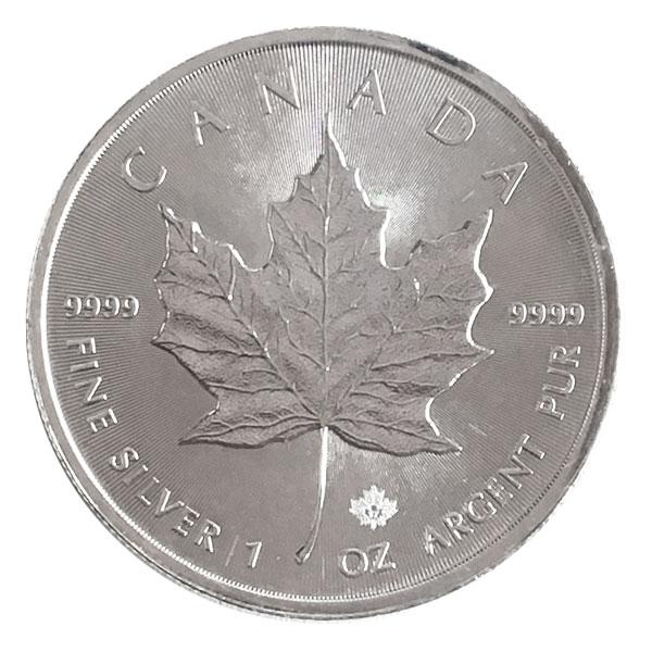 1oz メイプル リーフ銀貨 5ドル Sv1000(純銀・シルバー1000)