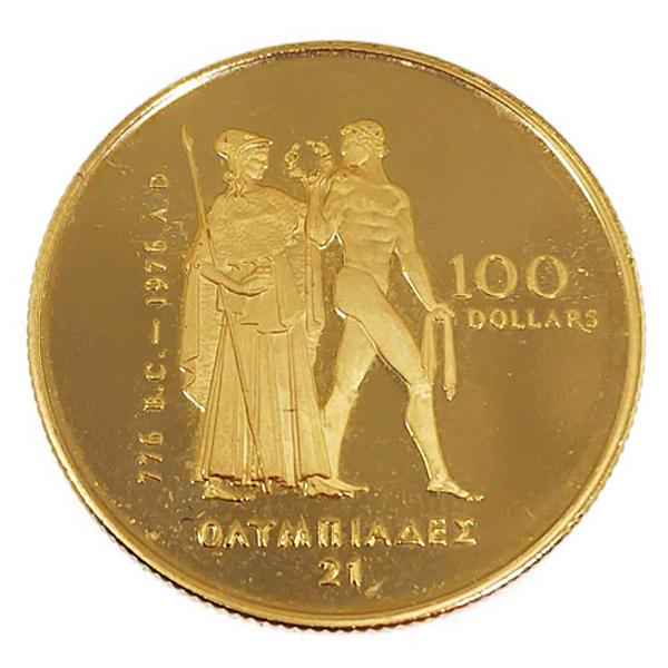 モントリオール五輪金貨 100ドル K22(22金)
