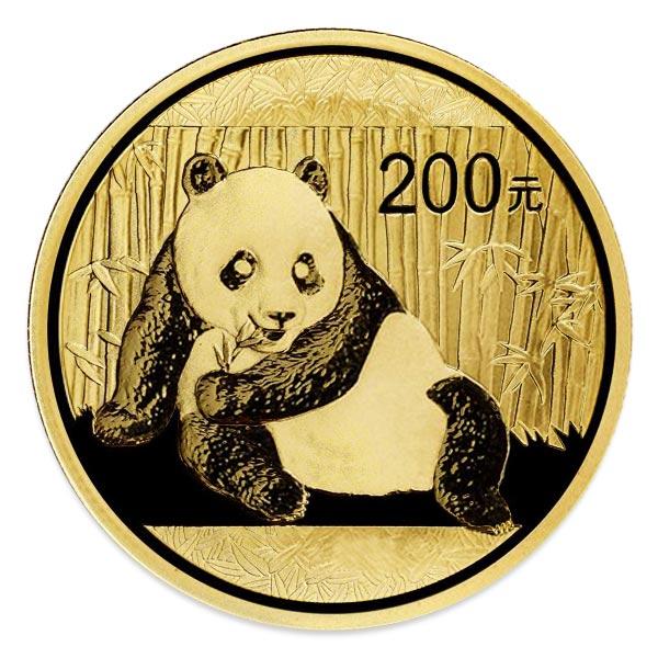 1/2oz パンダ金貨200元 K24(純金・24金)