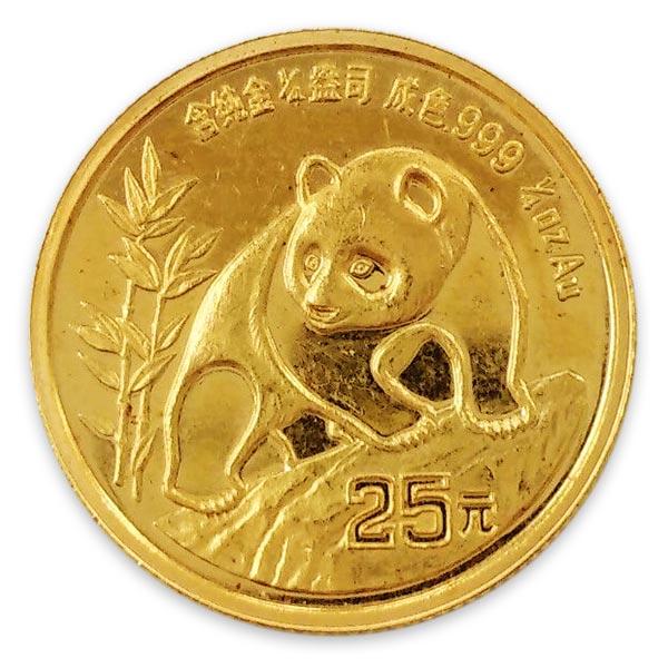 1/4oz パンダ金貨25元 K24(純金・24金)