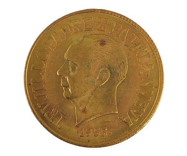 トルヒーヨ政権25周年 30ペソ 1955年Dominica 30PESOS金貨 30ペソ K21.6(21.6金)
