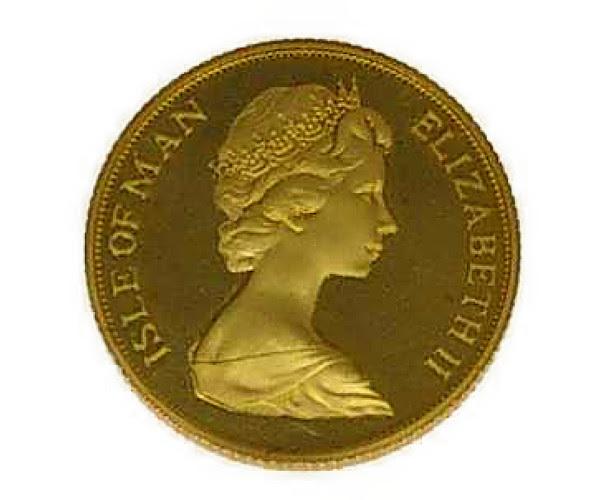 マン島ポンドコイン金メダル K22(22金)