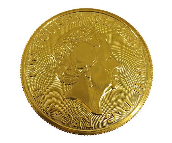 1oz UNICORN OF SCOTLAND クイーンズビースト ユニコーン金貨 100ポンド(UK) K24(純金・24金)
