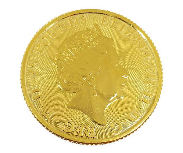 1/4oz UNICORN OF SCOTLAND クイーンズビースト ユニコーン金貨 25ポンド(UK) K24(純金・24金)
