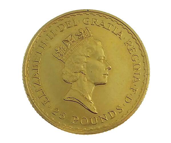 1/4oz ブリタニア金貨 25ポンド K22(22金)