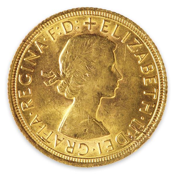 ソブリン金貨・エリザベス2世金貨 1/2ポンド K22(22金)