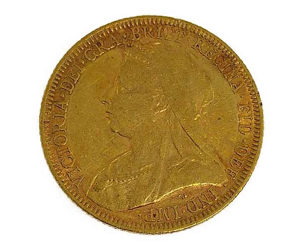 ソブリン・エリザベス2世 オールドヘッド Victoria Dei GRA Britt Regina Fid Def Ind Imp金貨 1ポンド K22(22金)