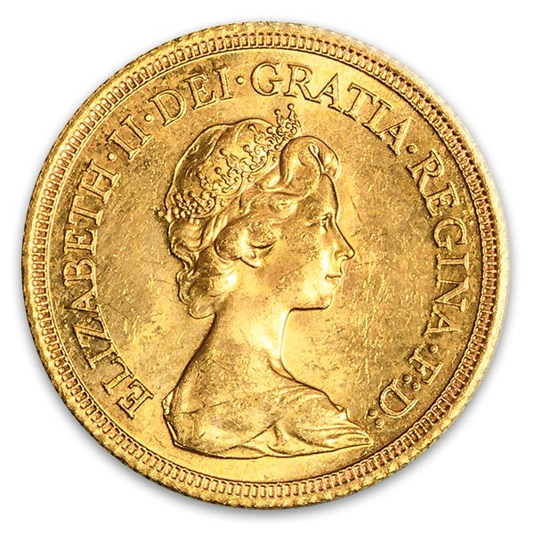 ソブリン・エリザベス2世 オールドヘッド Victoria Dei GRA Britt Regina Fid Def Ind Imp金貨 5ポンド K22(22金)