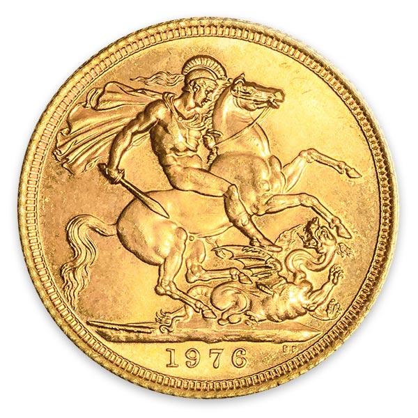ソブリン金貨・エリザベス2世金貨 5ポンド K22(22金)