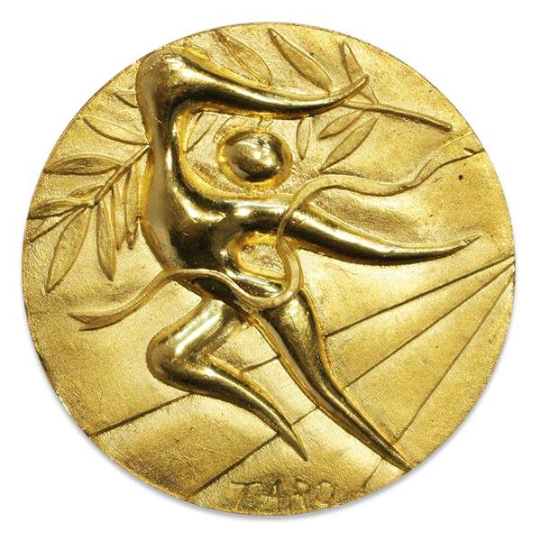 ミュンヘンオリンピック(五輪)純金 記念メダル・岡本太郎作金メダル K24(純金・24金)