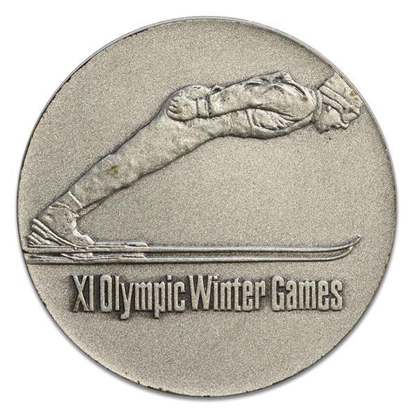 第11回札幌オリンピック(五輪)冬季大会記念銀貨 Sv925(シルバー925)