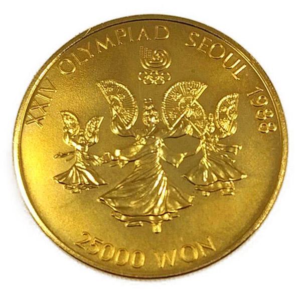 ソウルオリンピック金貨 25,000ウォン K22(22金)