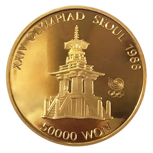 ソウルオリンピック金貨 50,000ウォン K22(22金)