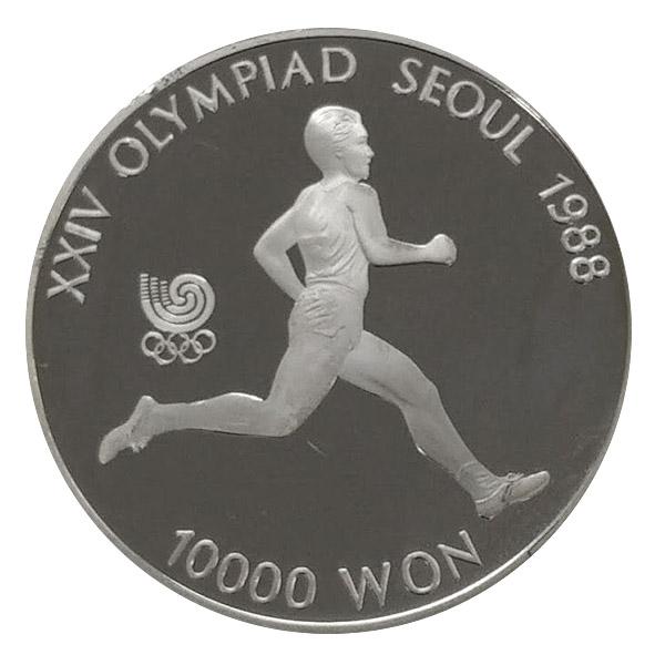 ソウルオリンピック10,000ウォン銀貨銀貨10,000ウォン Sv925(シルバー925)