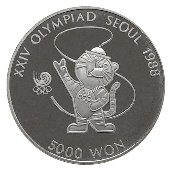 ソウルオリンピック5,000ウォン銀貨銀貨5,000ウォン Sv925(シルバー925)