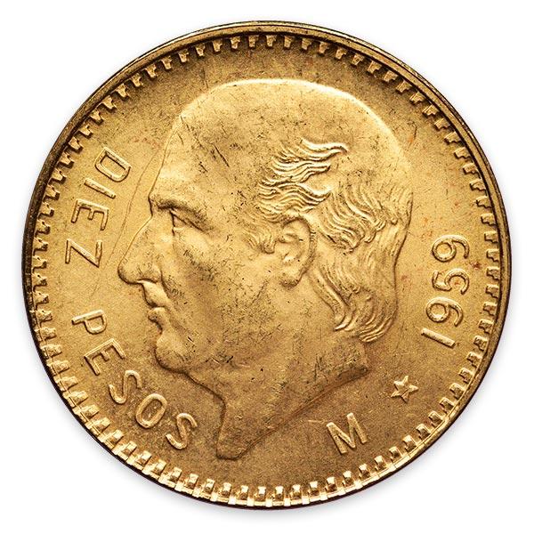 イダルゴ金貨 10ペソ K21.6(21.6金)