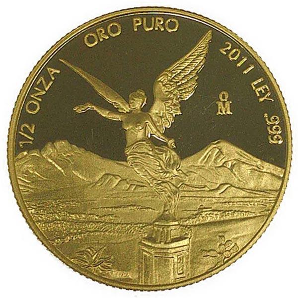 1/2oz 2011年 リベルタード金貨 1/2oz金貨 K21.6(21.6金)