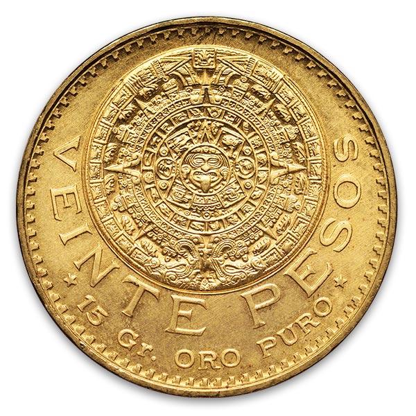 アステカ金貨 20ペソ K21.6(21.6金)