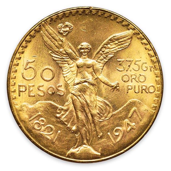 勝利の女神金貨 50ペソ K21.6(21.6金)