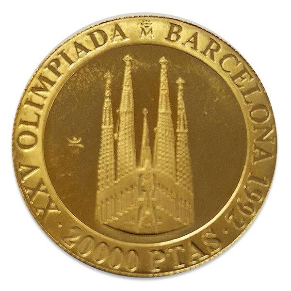 4.5oz バルセロナ オリンピック(サグラダ・ファミリア)金貨 20000ペセタ K24(純金・24金)