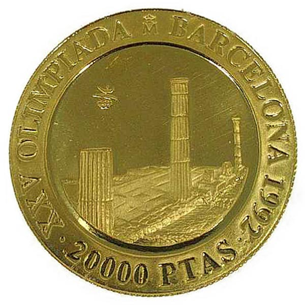 4.5oz バルセロナ オリンピック金貨 20000ペセタ K24(純金・24金)
